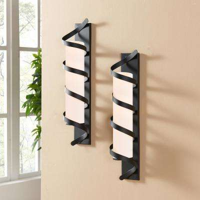 Wrap Around Metal Wall Candle Sconces (Set of 2)