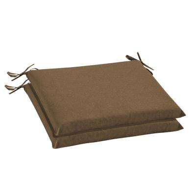 Sunbrella Cast Teak Rectangular Outdoor Seat Cushion (2 Pack)