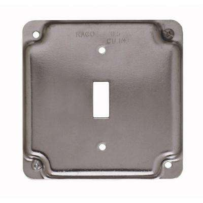 4 in. Square 1-Gang Exposed Work Cover for 1 Toggle Switch