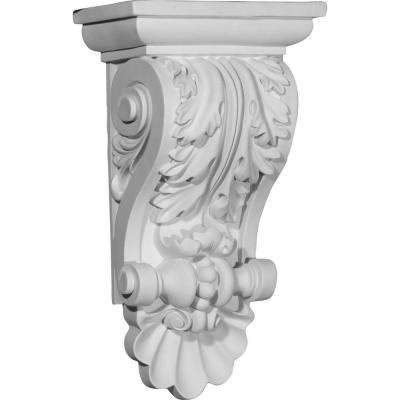 8 in. x 5 in. x 14-7/8 in. Polyurethane Acanthus Shell Corbel