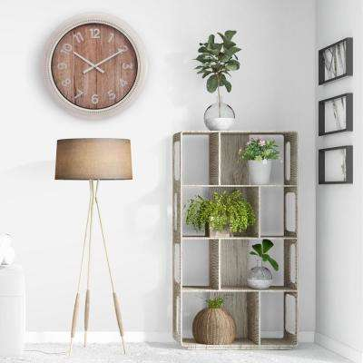 Rustic Distressed White Wall Clock