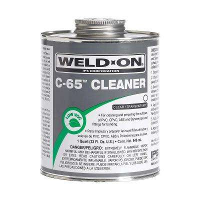 32 oz. PVC/ABS/CPVC C-65 Cleaner in Clear