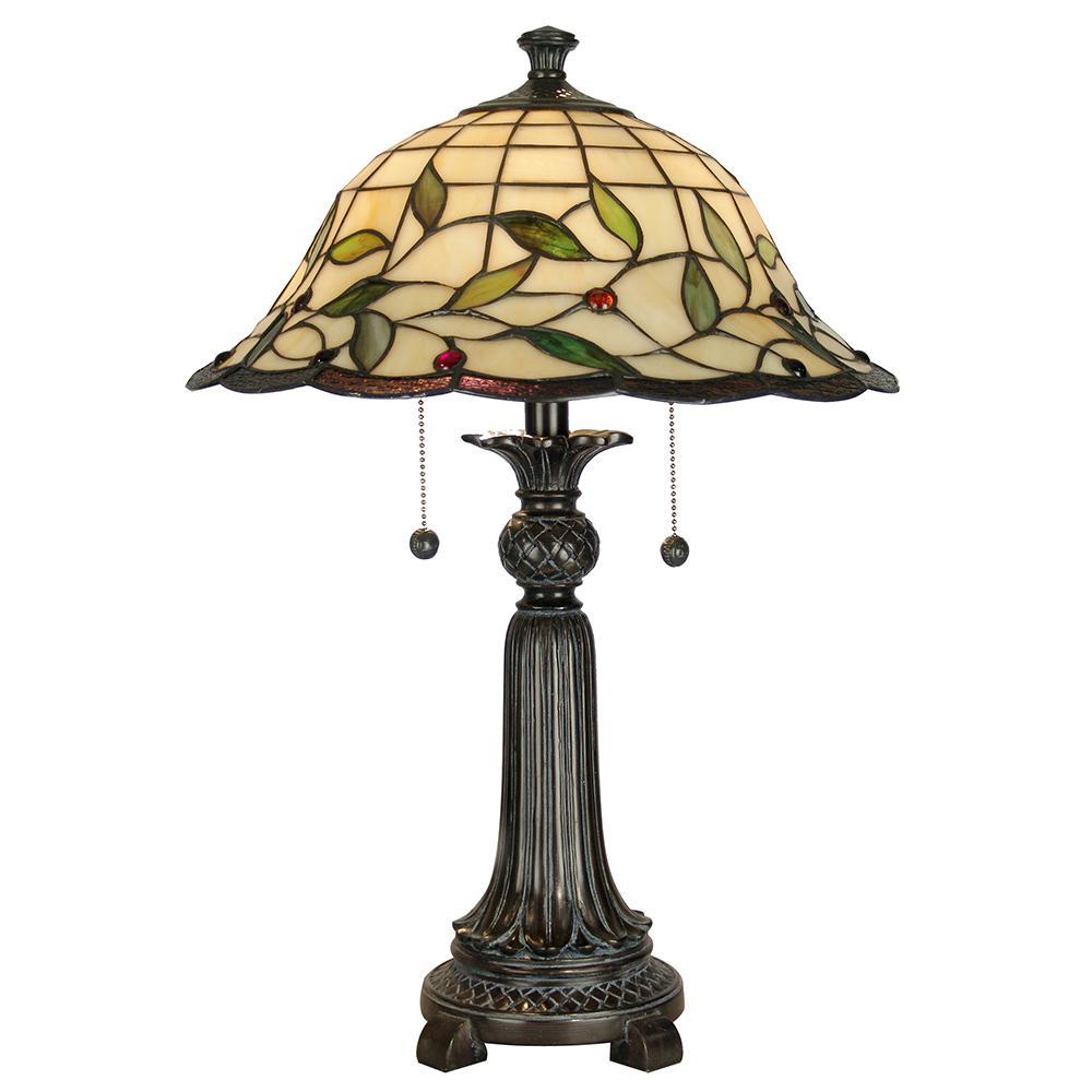 Dale Tiffany 23 In Mica Bronze Donavan Table Lamp With