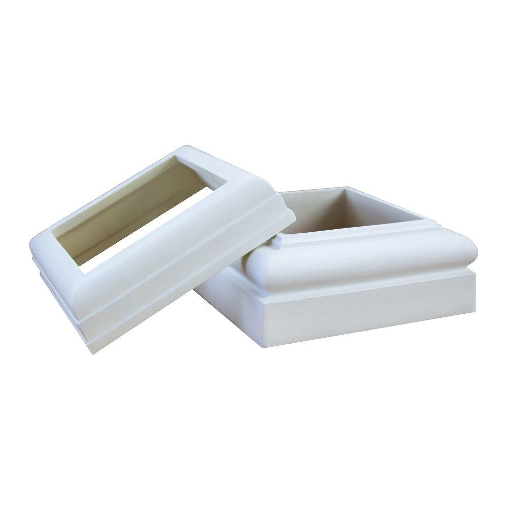PermaLite 6 in. PVC Cap and Base Set