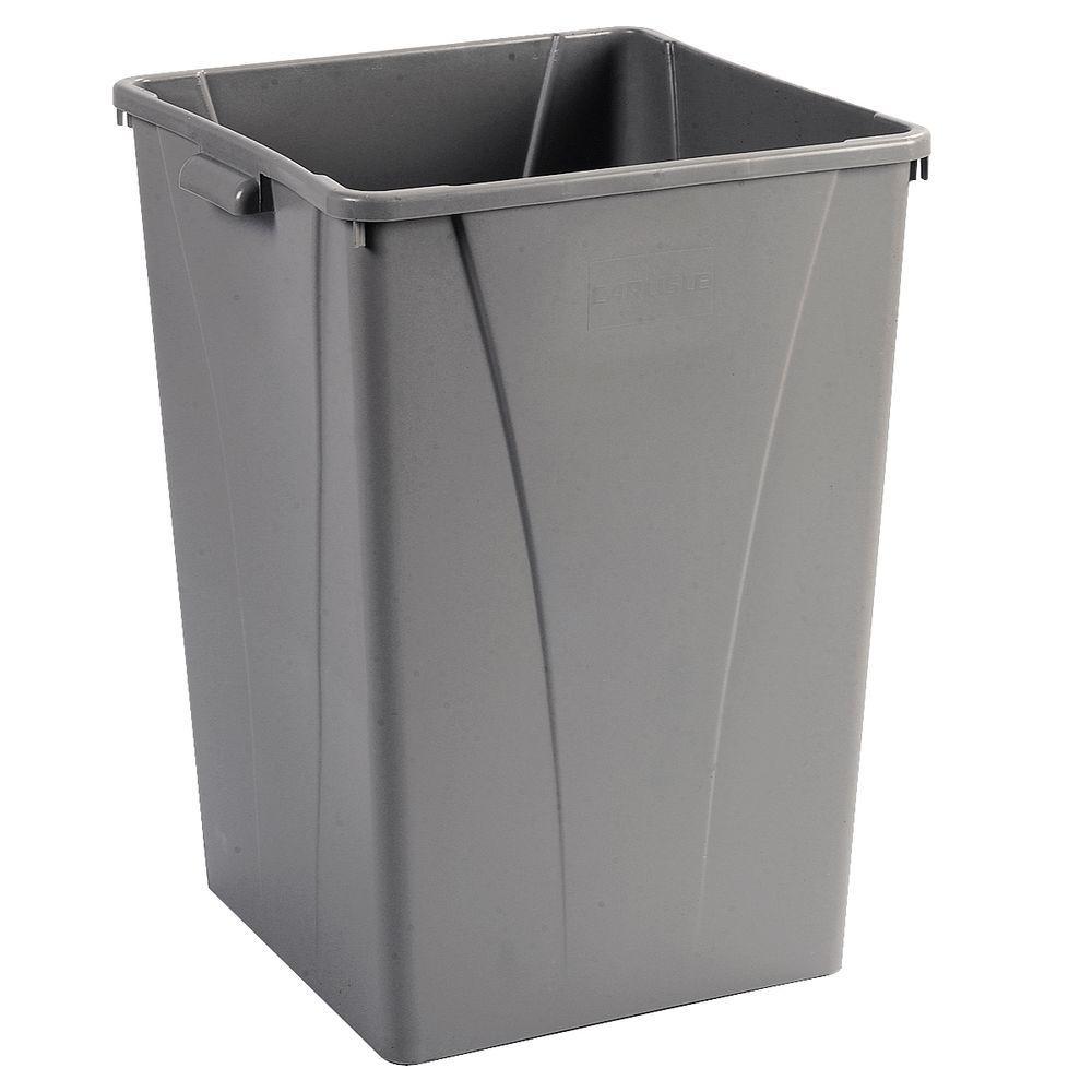 Carlisle Centurian 35 Gal Gray Square Trash Can 4 Pack