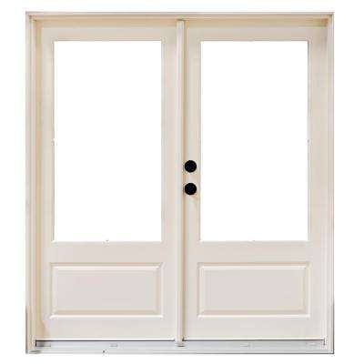 White Fiberglass French Patio Door Exterior Doors Doors