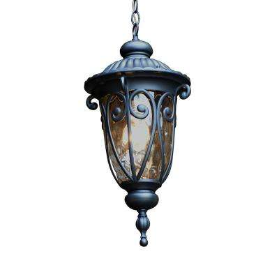 Hailee Matte Black 1-Light Exterior Hanging Lantern