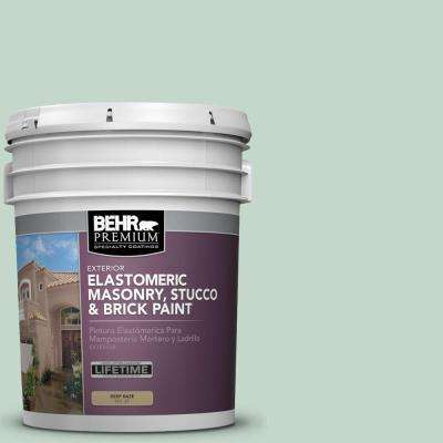 5 gal. #MS-64 Mesa Verde Elastomeric Masonry, Stucco and Brick Exterior Paint