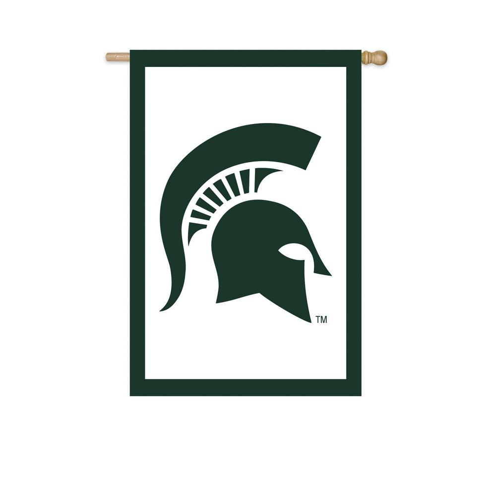 2.4 ft. x 3.6 ft. Michigan State University Applique House Flag