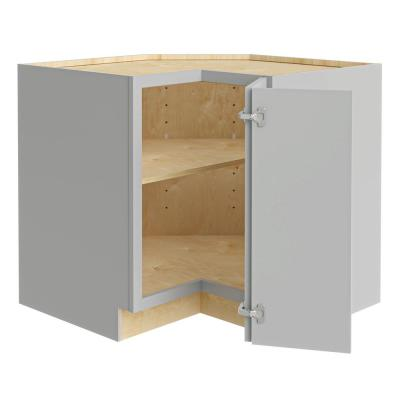 Tremont Assembled 36x34.5x24 in. Plywood Shaker EZ Reach Base Corner Kitchen Cabinet Right in Painted Pearl Gray