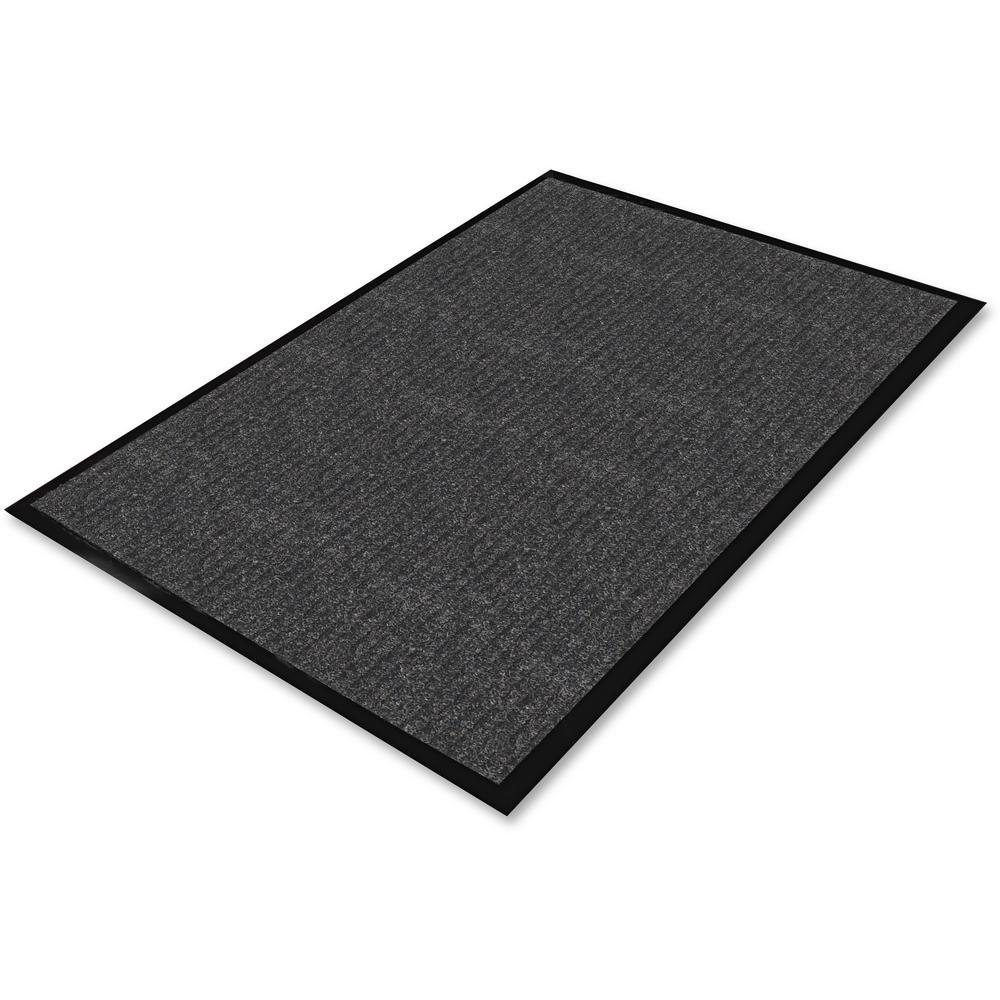 Charcoal 36 in. x 60 in. Ribbed Indoor Wiper Commercial Floor Mat