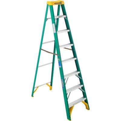 8 ft. Fiberglass Step Ladder with 225 lb. Load Capacity Type II Duty Rating