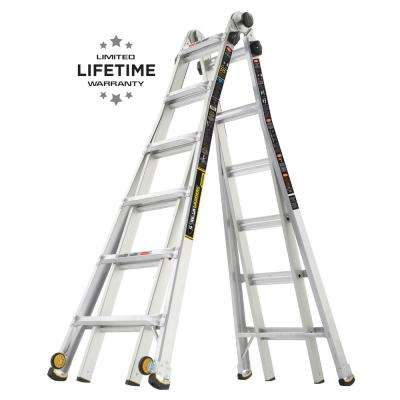 26 ft. Reach MPX Aluminum Multi-Position Ladder with Wheels