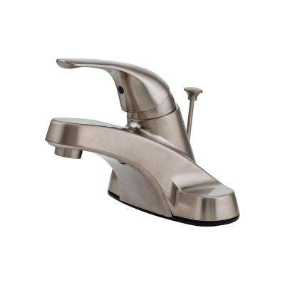 Pfirst Series 4 in. Centerset Single-Handle Bathroom Faucet in Brushed Nickel