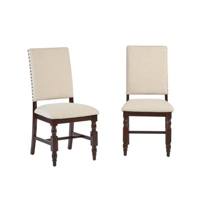 Progressive Furniture Sanctuary Cherry Upholstered Dining Chairs (2-Count)