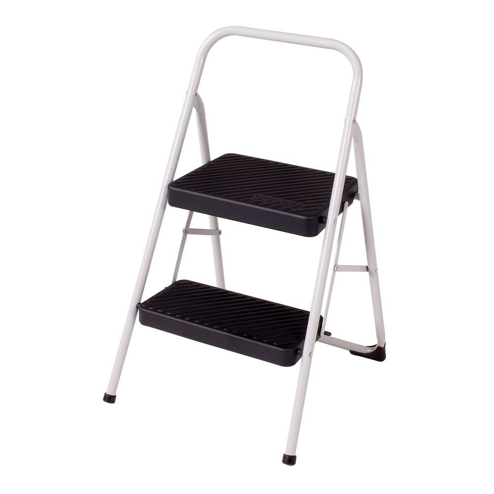 Cosco 2 Step Steel Folding Step Stool Ladder With 200 Lb