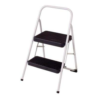 2-Step Steel Folding Step Stool Ladder with 200 lb. Load Capacity
