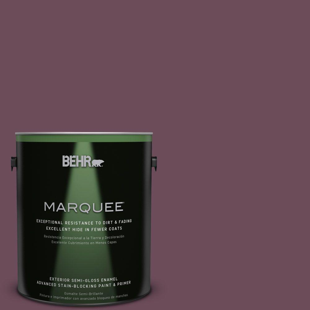 BEHR MARQUEE 1-gal. #PPU1-20 Spiced Plum Semi-Gloss Enamel Exterior Paint