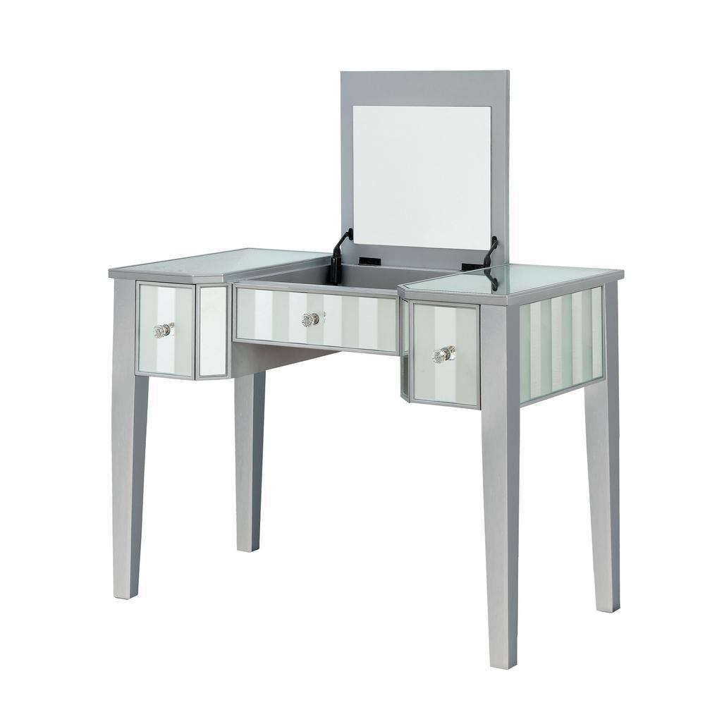 Stevens 2-Piece Silver Vanity Set