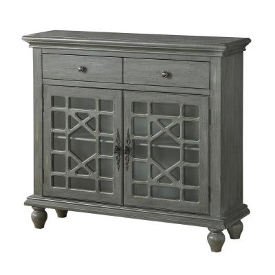 Joplin Texture Grey 2-Drawer 2-Door Cupboard