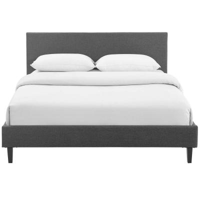 Anya Gray Full Fabric Bed