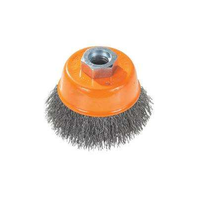 5 in. Cup Brush Crimped Wires 5/8 in. -11 in. Arbor