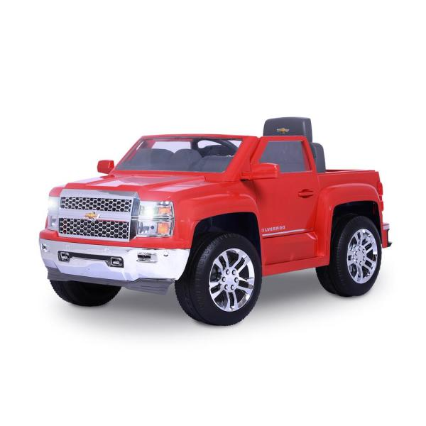 Chevy Silverado 6-Volt Battery Ride-On Vehicle in Red