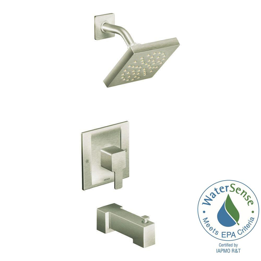 danco single handle valve trim kit for moen tub shower in brushed
