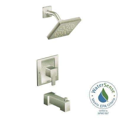 90-Degree Posi-Temp Single-Handle 1-Spray Tub and Shower Faucet Trim Kit in Brushed Nickel (Valve Not Included)