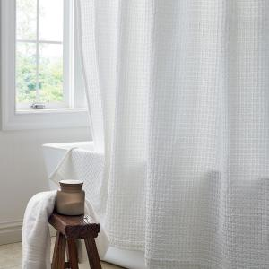Creative Bath Belle 70 In X 72 Chenille Cotton Shower Curtain