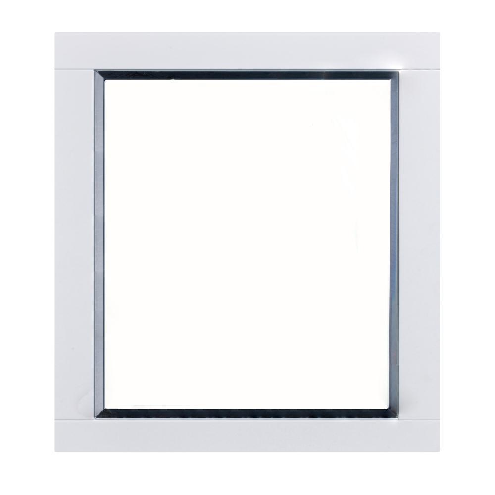 Eviva Aberdeen 36 In W X 30 In H Framed Wall Mounted Vanity Bathroom Mirror In White Evmr412