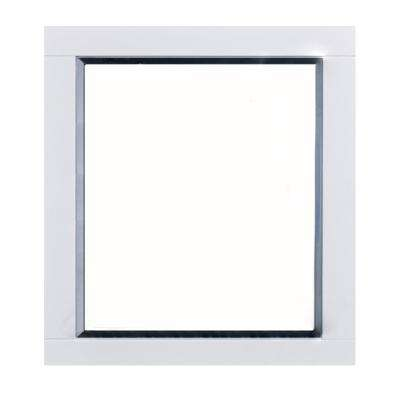Aberdeen 36 in. W x 30 in. H Framed Wall Mounted Vanity Bathroom Mirror in White