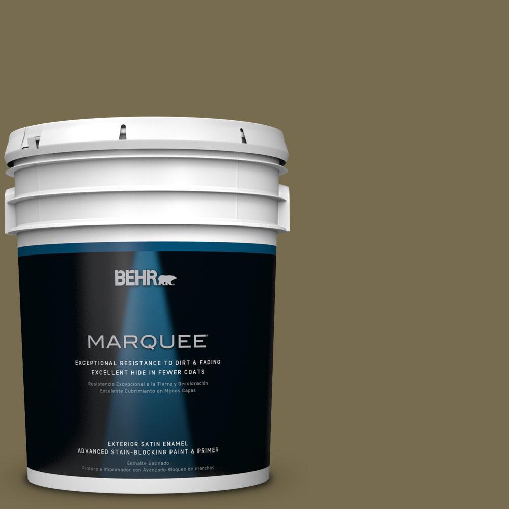5-gal. #PPU8-1 Olive Satin Enamel Exterior Paint