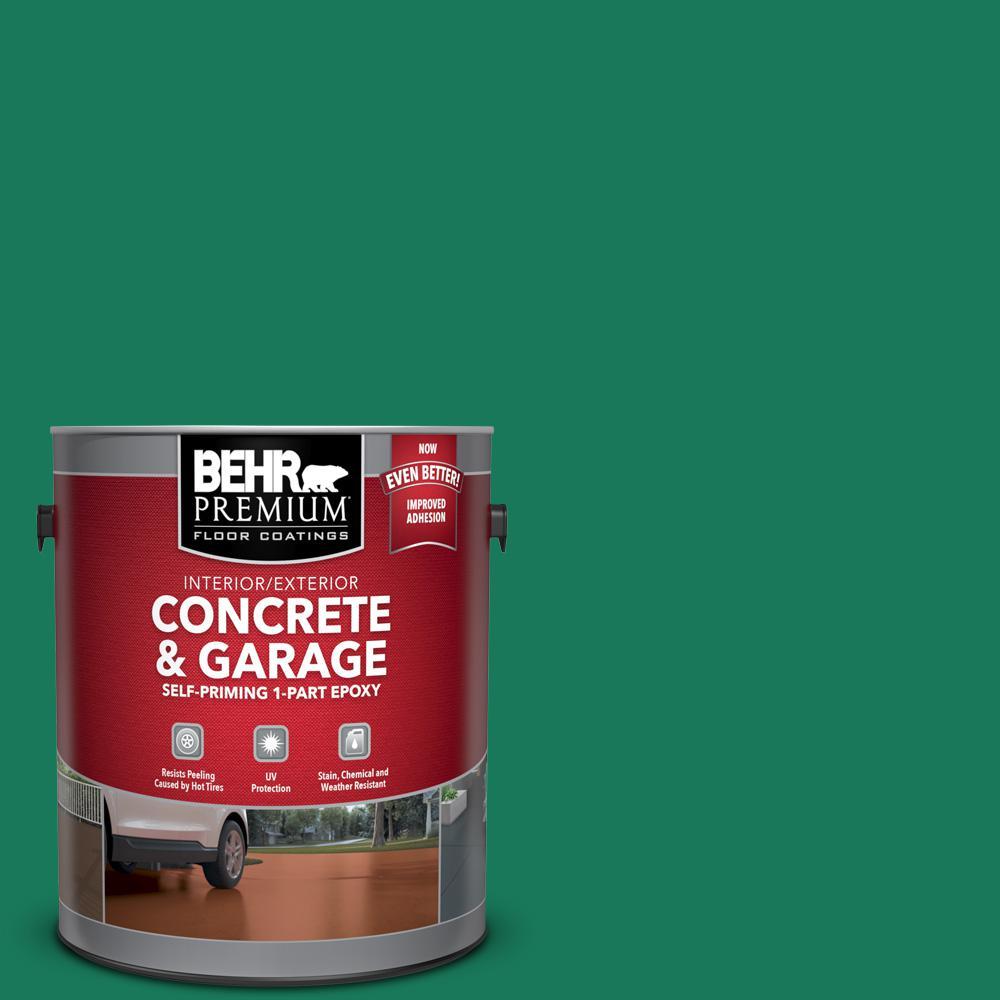 1 gal. #OSHA-2 OSHA SAFETY GREEN Self-Priming 1-Part Epoxy Satin Interior/Exterior Concrete and Garage Floor Paint