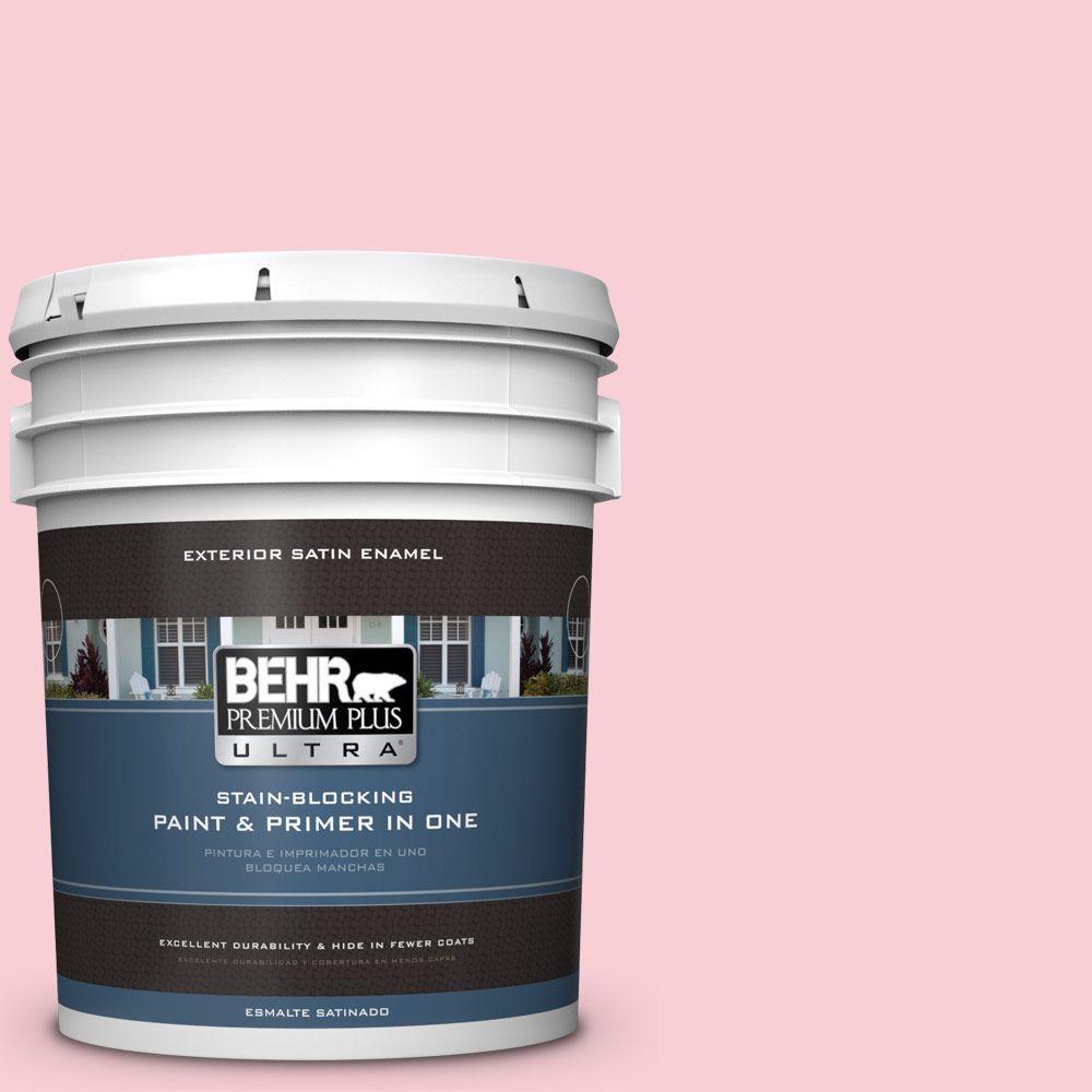 BEHR Premium Plus Ultra 5-gal. #130A-2 Fading Rose Satin Enamel Exterior Paint