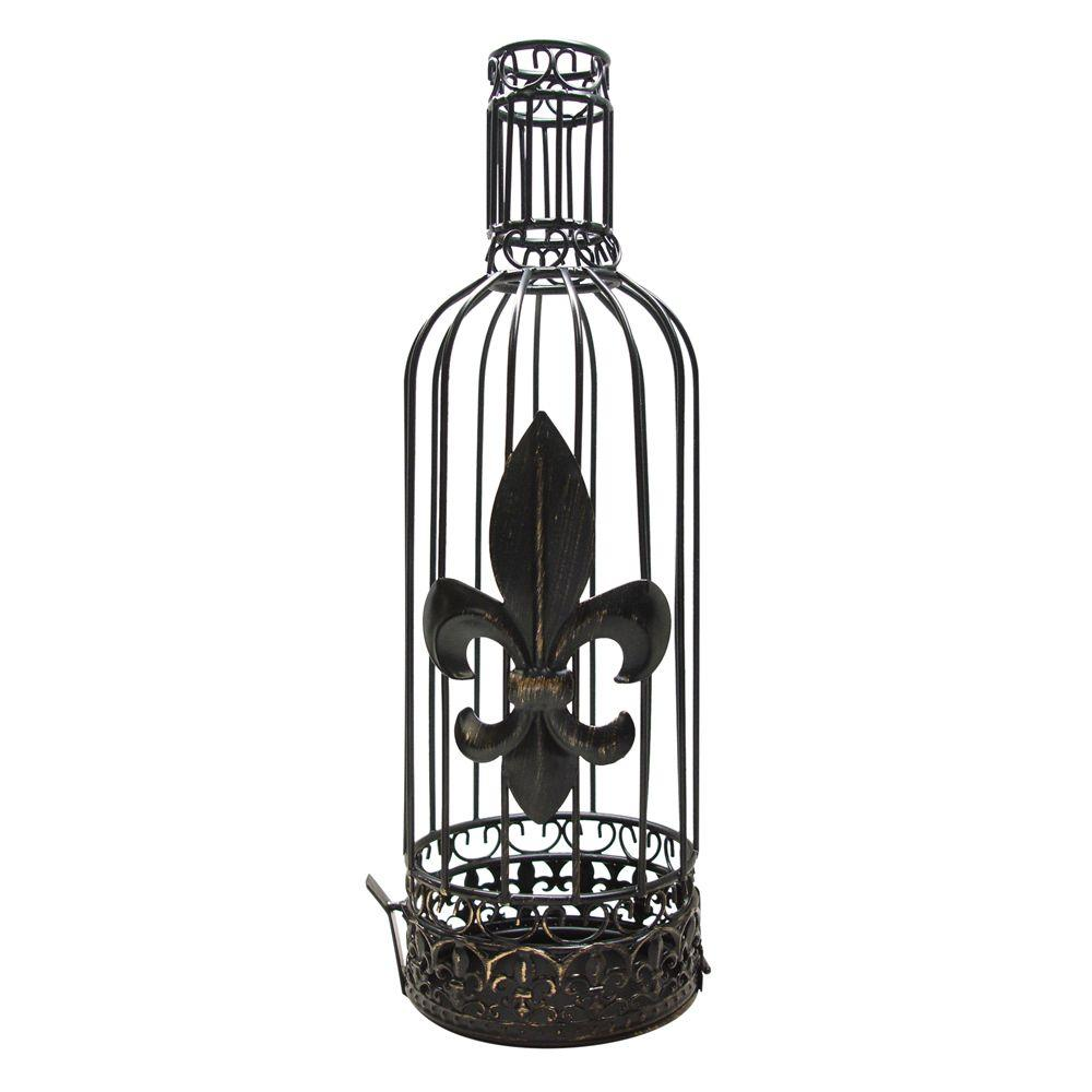Vinotemp Fleur de Lis Cork Jail Display your favorite wine memories in Epicureanist's Fleur de Lis Cork Jail. Featuring whimsical swirls along the top and bottom and a fleur de lis design in the center, this accessory is a fun addition to any home.