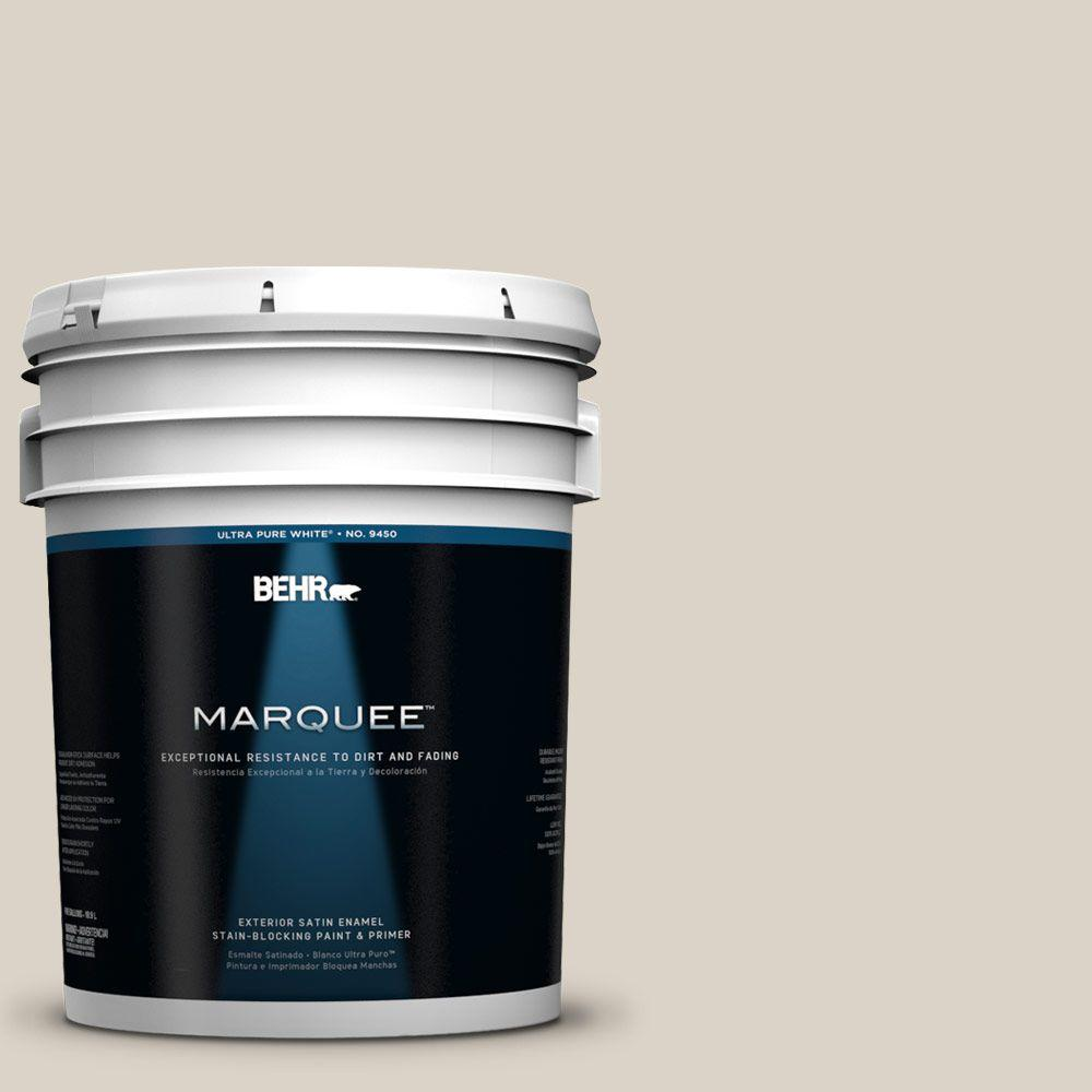 Behr Marquee 5 Gal 730c 2 Sandstone Cove Satin Enamel Exterior Paint 945405 The Home Depot