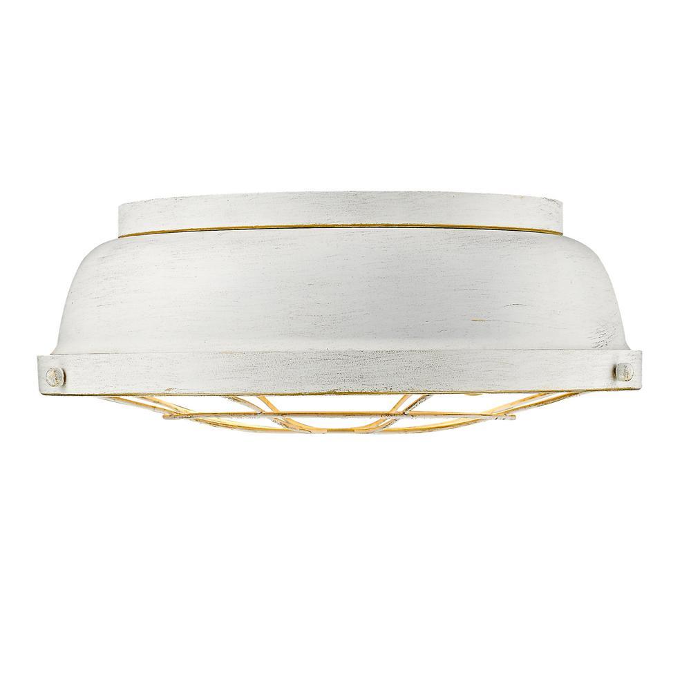 Bartlett 2-Light French White Flushmount Light