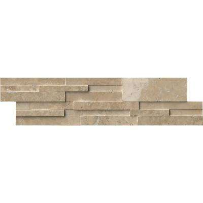 Durango Cream 3D Ledger Panel 6 in. x 24 in. Honed Travertine Wall Tile (10 cases / 80 sq. ft. / pallet)