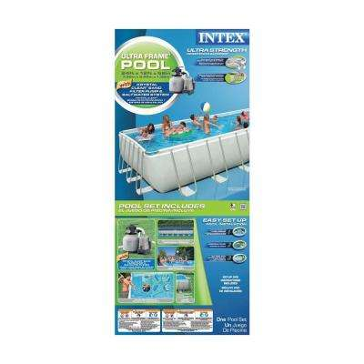 24 ft. x 12 ft. x 52 in. Rectangular Ultra Frame Pool Set