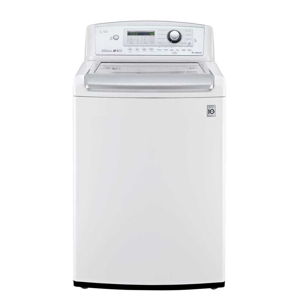 LG Electronics 4.9 cu. ft. High-Efficiency Top Load Washer in White, ENERGY STAR