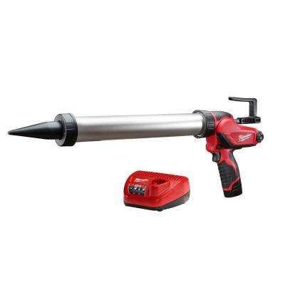 M12 12-Volt Lithium-Ion 20 oz. Cordless Aluminum Barrel Caulk and Adhesive Gun Kit