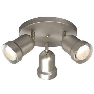 Negron 3-Light Pewter Track Head Spotlight with Directional Heads