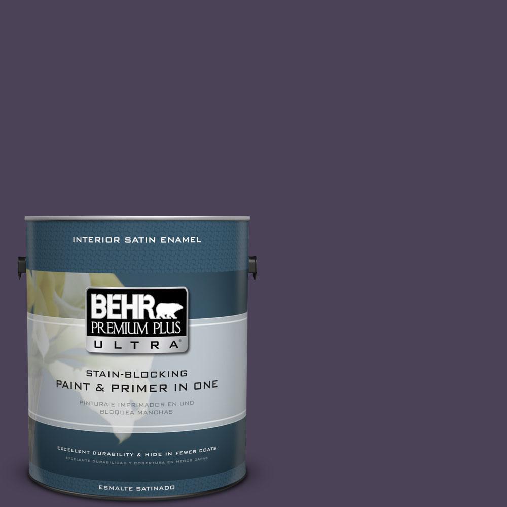 BEHR Premium Plus Ultra Home Decorators Collection 1-gal. #HDC-CL-06 Sovereign Satin Enamel Interior Paint