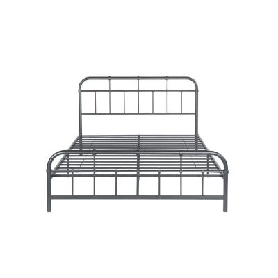Berthoud Industrial Queen-Size Charcoal Gray Iron Bed Frame