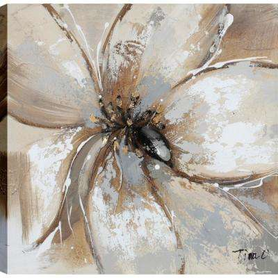 White Flower Love Blossoms III, Floral Art, Unframed Canvas Print Wall Art 24X24 Ready to hang by ArtMaison.ca