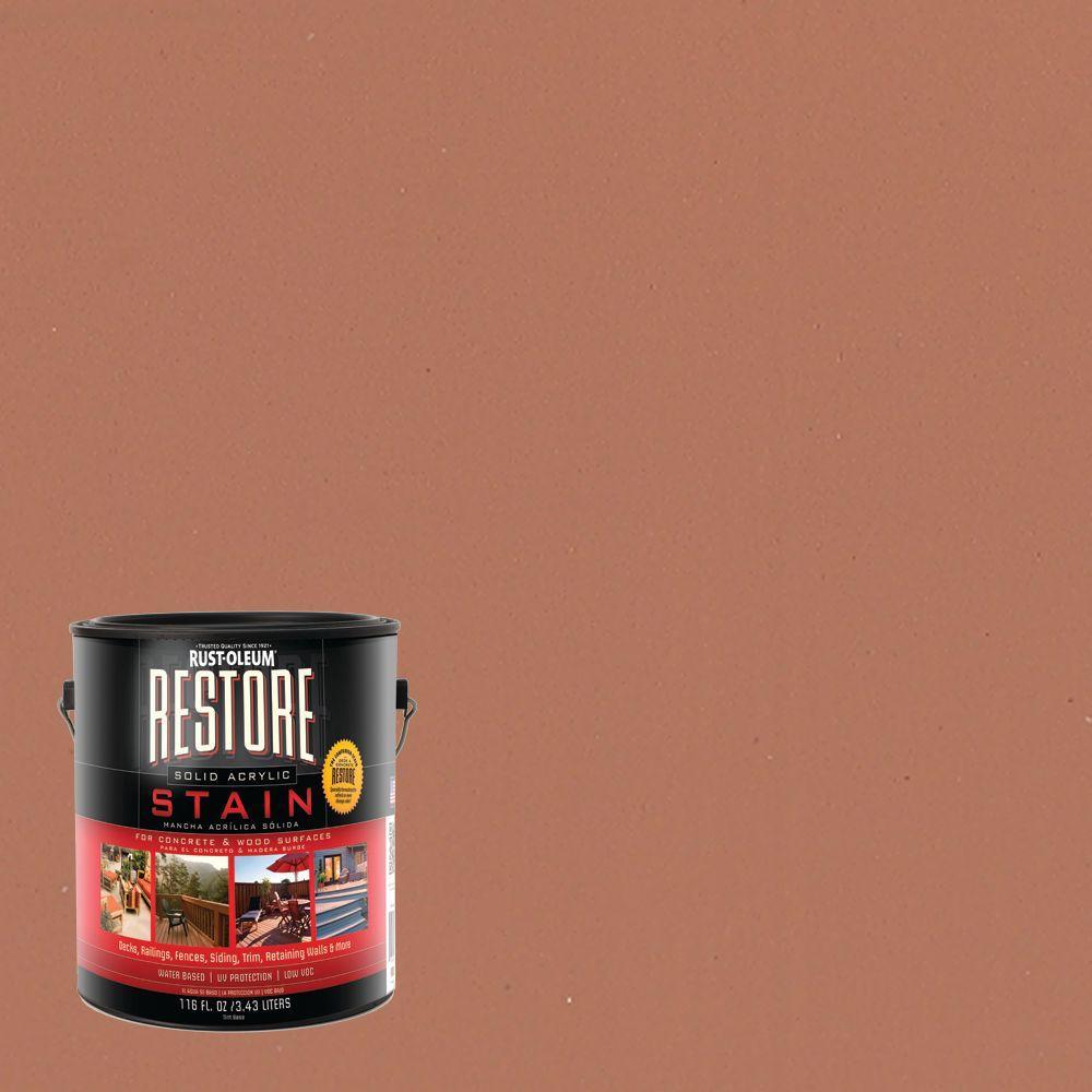 Rust-Oleum Restore 1 gal. Solid Acrylic Water Based Cedar Exterior Stain