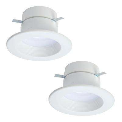 RL 4 in. 915 Lumens White Selectable Integrated LED Recessed Ceiling Light Trim CCT Extra Brightness (2-Pack)