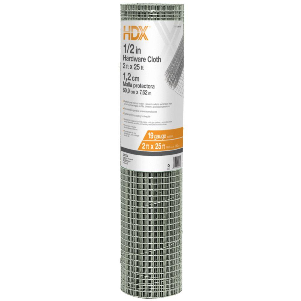 HDX 1/2 in. x 2 ft. x 25 ft. Hardware Cloth