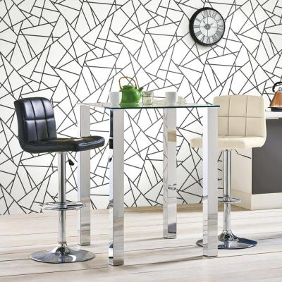 28.18 sq. ft. Black Fracture Peel and Stick Wallpaper
